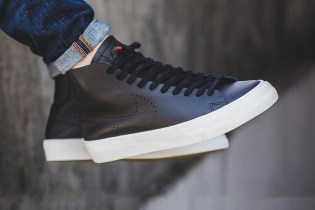 Nike's Blazer Studio Mid Surfaces in a Clean Black Colorway