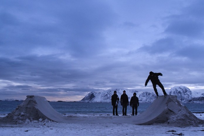 A Group of Skaters Shred a Beautiful Frozen Beach in Norway