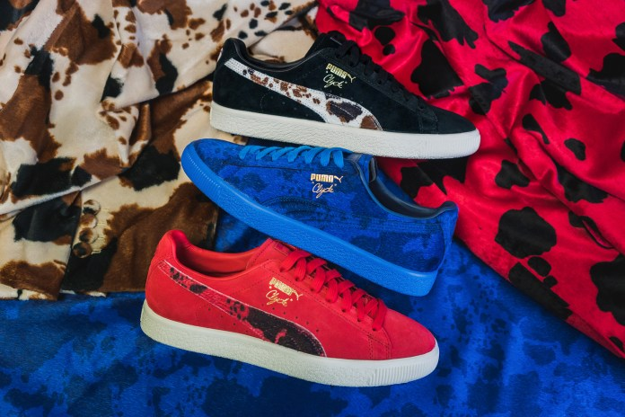 """Packer Shoes Joins Puma for Their Vibrant Clyde """"Cow Suits"""" Pack"""