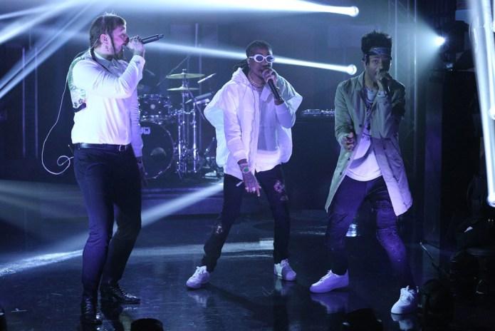 "Watch Post Malone, Quavo & Metro Boomin Perform ""Congratulations"" on 'Seth Meyers'"