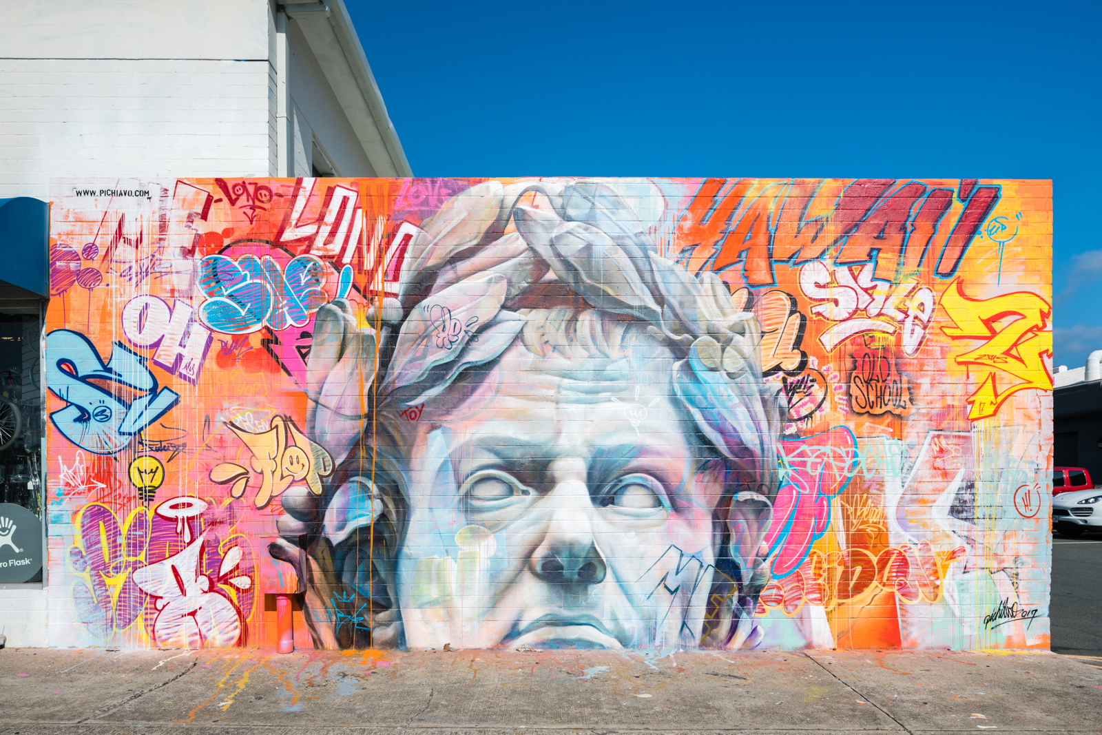 Pow Wow Street Art Hawaii Pichi Avo