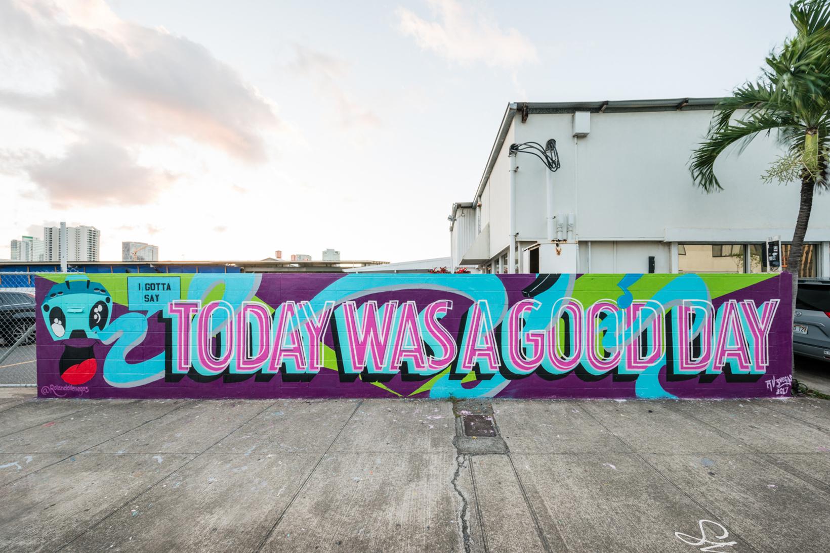 Pow Wow Street Art Hawaii Rolando Venegas