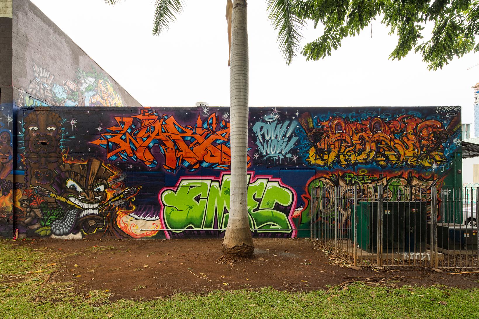 Pow Wow Street Art Hawaii Ugly Kids