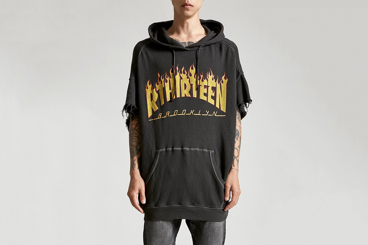 R13 Rip off Thrasher Flame Logo