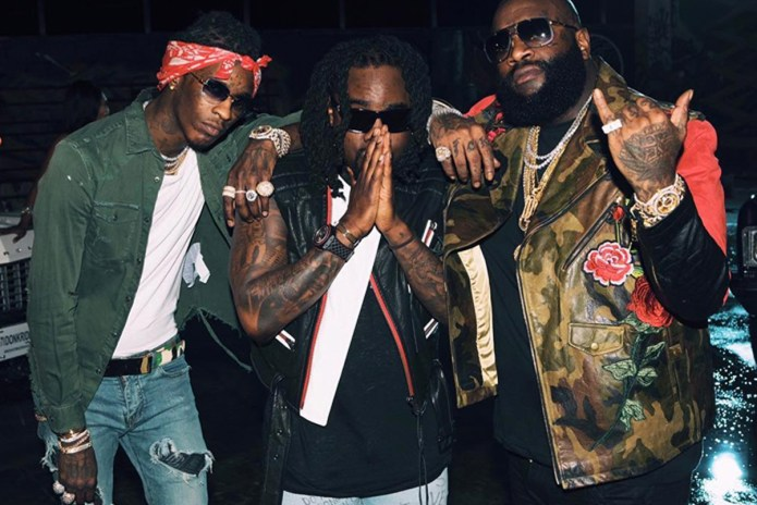 "Rick Ross, Young Thug & Wale Roam Miami's Hoods in ""Trap Trap Trap"" Video"