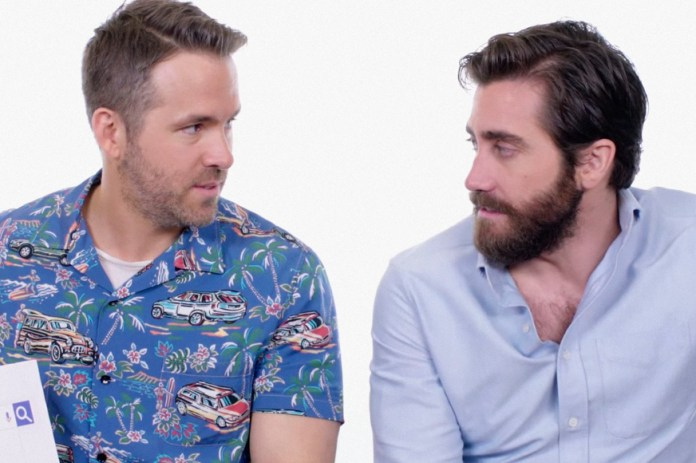 Ryan Reynolds & Jake Gyllenhaal Bro out While Answering Google Questions