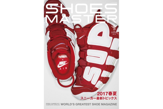 The Supreme x Nike Air More Uptempo Graces the Cover of 'SHOES MASTER' Vol. 27