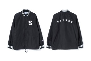 Stüssy & Champion Drop a Varsity-Inspired Coach Jacket for 2017 Spring/Summer