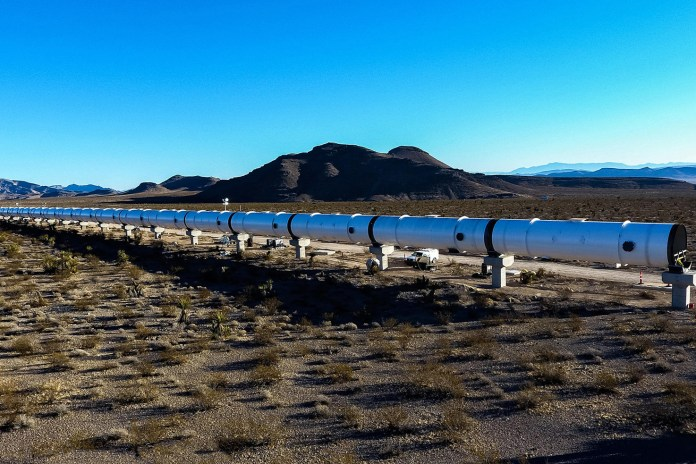 The Blisteringly Fast Hyperloop One Test Track Is Nearly Complete