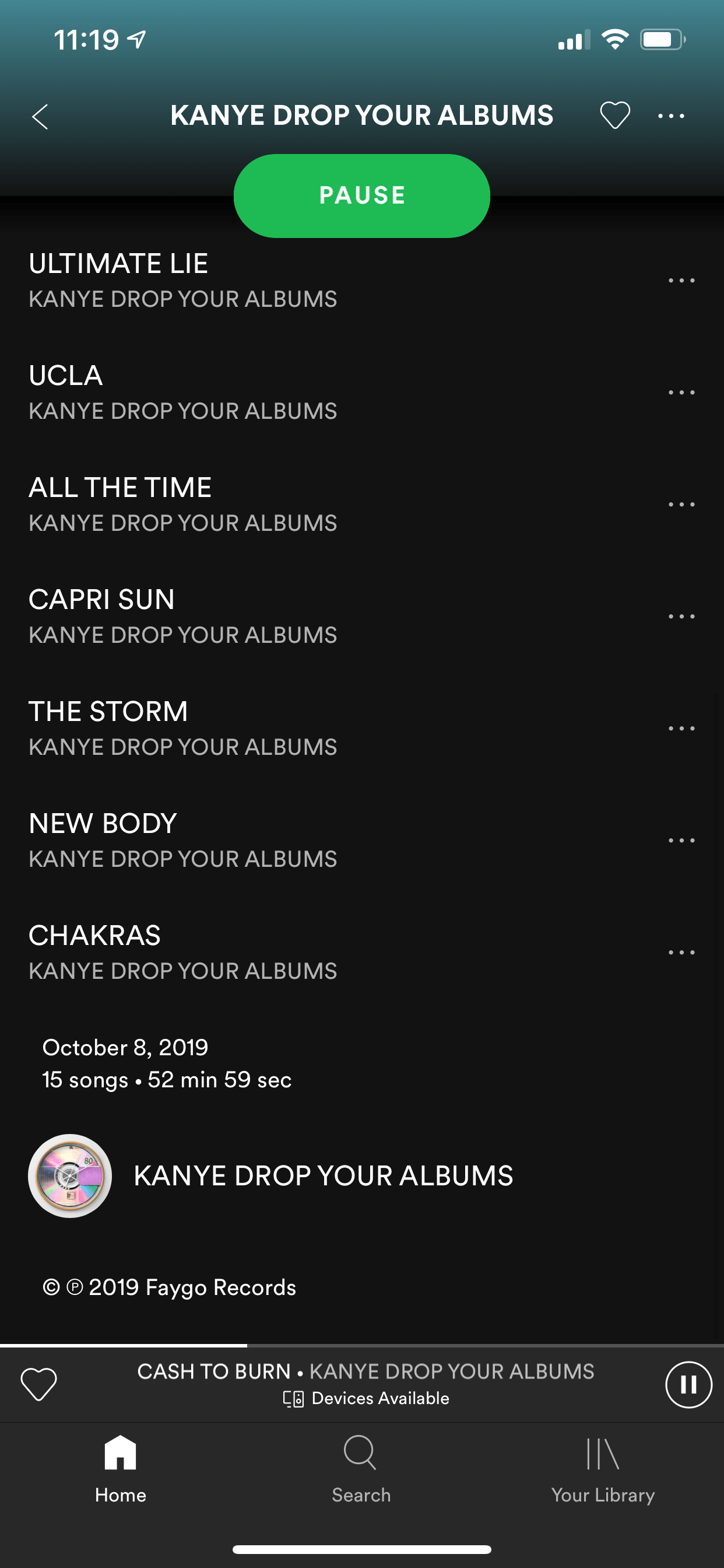 Kanye West's 'Yandhi' Album Surfaces on iTunes as Ringtones unreleased albums jesus is king Leak Spotify