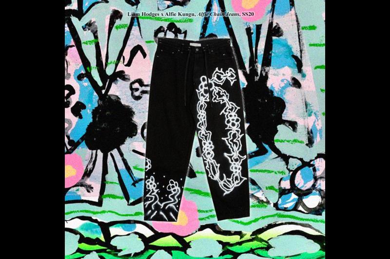 Alfie Kungu x Liam Hodges Spring/Summer 2020 Collection Looks Lookbook Release Information Free A3 Print Artist London Based Designer Hand Made Printed Garments