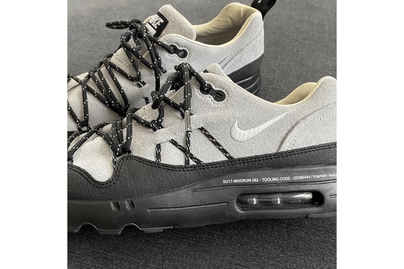 fragment design x Nike Air Max 1 Hiroshi Fujiwara Preview Sample First Look Teaser Instagram Upload The Ten Virgil Abloh Swoosh AM1 Technical Lacing System