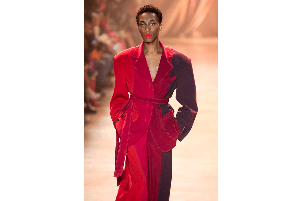 Christopher John Rogers Brings the Drama Why Christopher John Rogers Need to Be on Your Radar Queer Black Menswear Womenswear LGBTQIA+ Clothing Tailoring Met Gala American Music Awards Lil Nas X Cardi B Ashley Graham Michelle Obama Profile Background