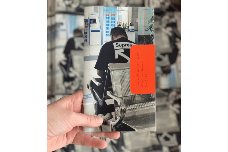 'People Wearing Off-White™' Zine by Warehouse Review book inside photographs essays criticism fashion industry