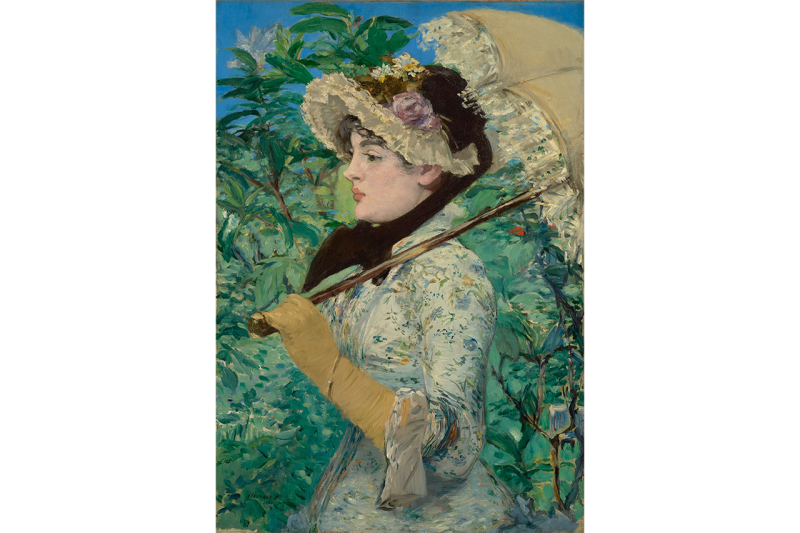 """National Gallery London """"Impressionist Decorations: The Birth of Modern Décor"""" Claude Monet 'Water Lilies'  Edouard Manet 'Jeanne (Spring)' Art Exhibition Classic Artworks Paintings"""