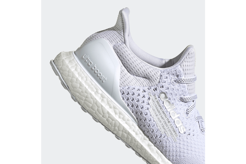 """atmos x adidas UltraBOOST DNA """"Cloud White/Silver Metallic/Clear Grey"""" H05023 Japan UB Tokyo Sneaker Boutique Collaboration Drop Date Release Information Closer First Look Triple White Trainers"""