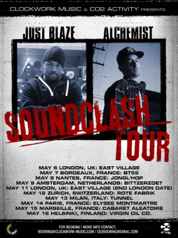 "Just Blaze & Alchemist Announce ""Soundclash"" Tour Dates"
