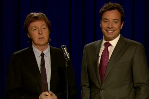 Paul McCartney - Tribute To John Lennon (Live On Fallon)