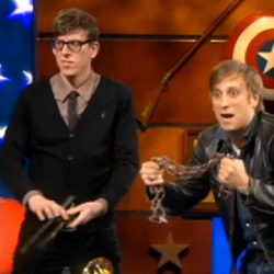 The Black Keys & Ezra Koenig Battle For Best Alternative Rock Album At The Colbert Report