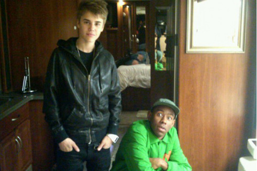 Tyler, the Creator Meets Justin Bieber