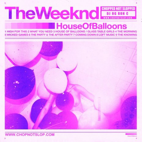 The Weeknd - House of Balloons (Chopped Not Slopped Mixtape)