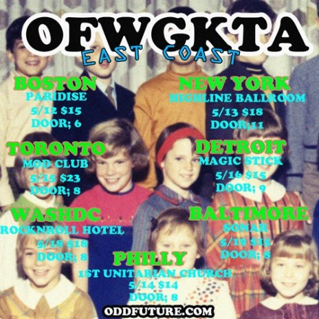 Odd Future Announces East Coast Tour Dates