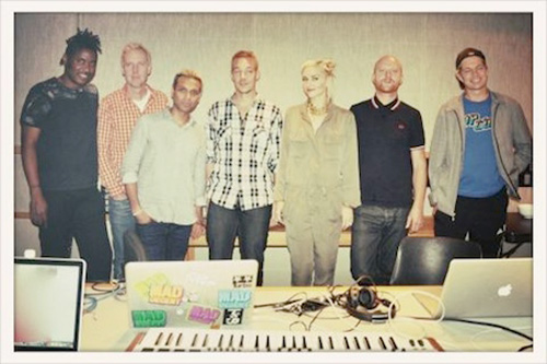 No Doubt in the studio with Major Lazer
