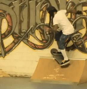 Lil Wayne & Cory Gunz skateboarding at Transitions Skate Park