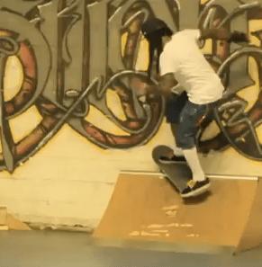 Lil Wayne & Cory Gunz skateboarding at Transitions Skate Park