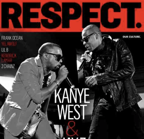 Jay-Z and Kanye West cover RESPECT. magazine