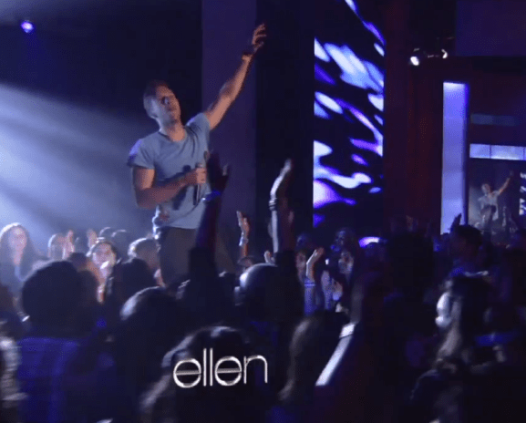 Coldplay performs on The Ellen DeGeneres Show