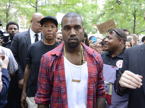 Kanye West & Russell Simmons visit Occupy Wall Street protests