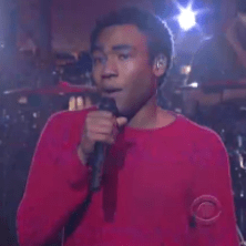 Childish Gambino on Late Night with David Letterman