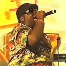 "Unreleased footage of Notorious B.I.G. performing ""Can't You See"" in Irvine, California"
