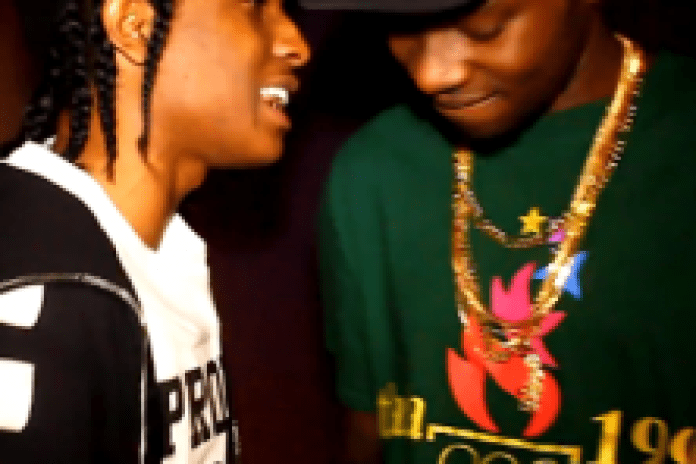 """A$AP Rocky and Theophilus London in the studio recording """"Big $pender"""""""
