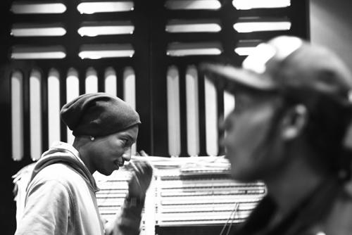 A$AP Rocky & Pharrell hit the studio