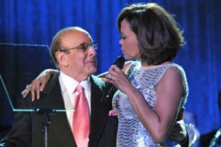 Clive Davis honors Whitney Houston at pre-Grammy party