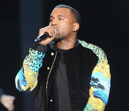 Kanye West freestyles on stage in Australia