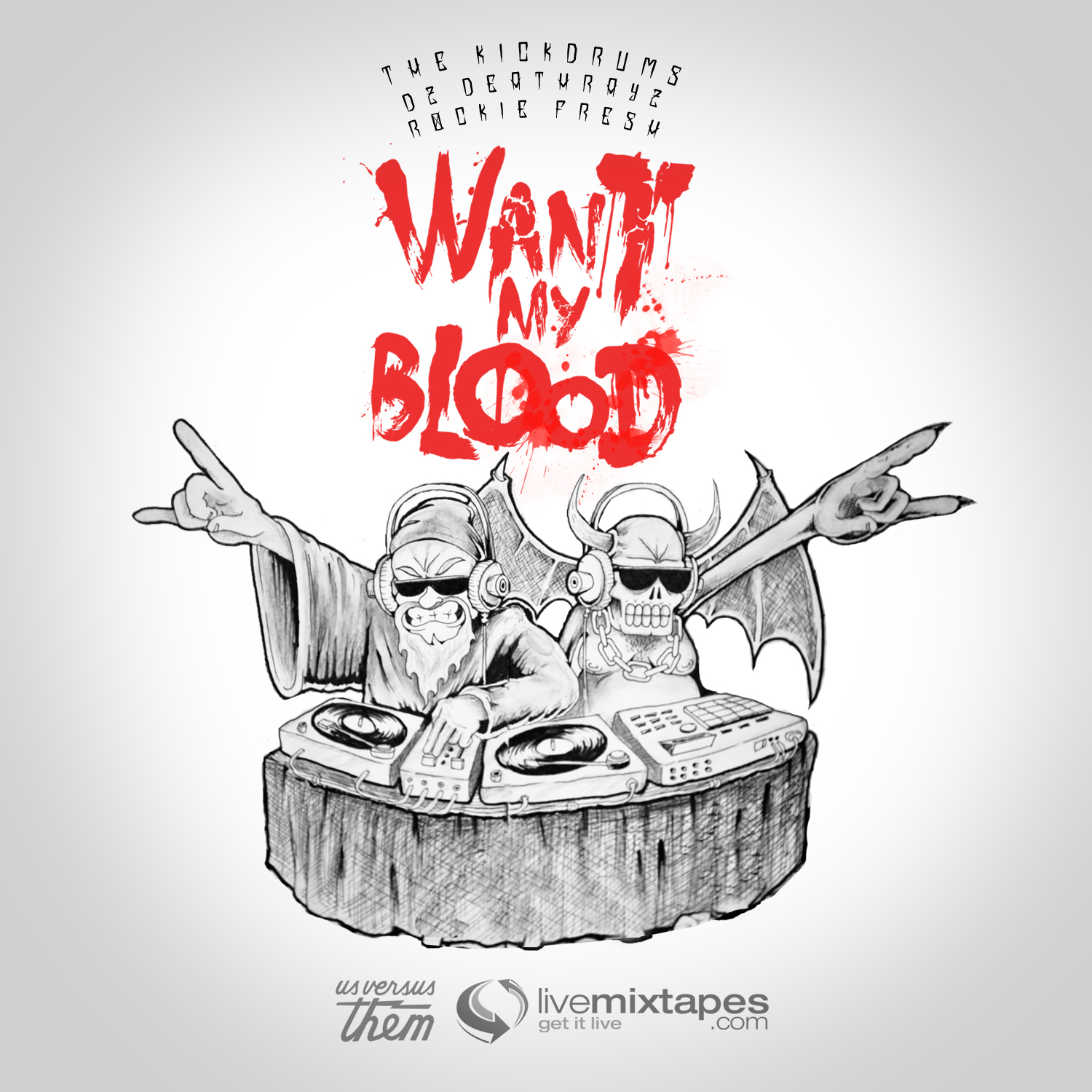 The Kickdrums featuring Rockie Fresh & DZ Deathrays - Want My Blood