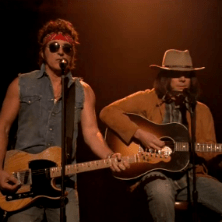 "Jimmy Fallon and 80s Bruce Springsteen team up for a rendition of LMFAO's ""Sexy And I Know It"""