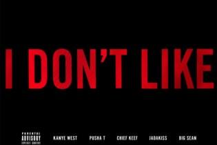 Chief Keef featuring Big Sean, Jadakiss, Kanye West & Pusha T – I Don't Like Remix (Artwork)