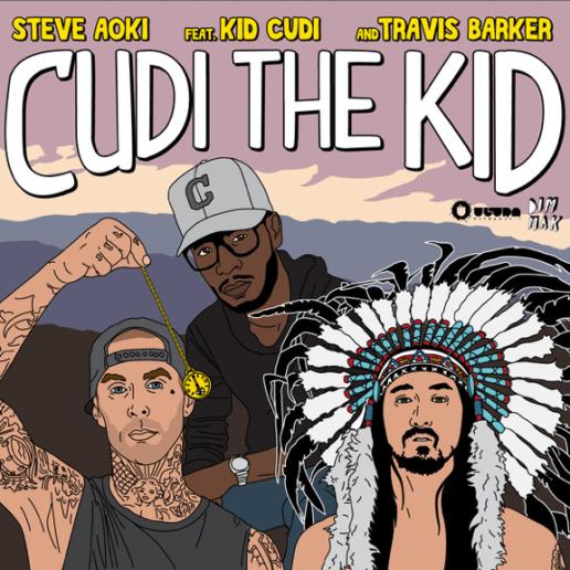 Steve Aoki featuring Kid Cudi & Travis Barker - Cudi The Kid (The Remixes)
