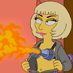 Lady Gaga channeled on 'Simpsons' season finale
