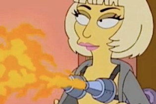 Lady Gaga channeled on 'Simpsons' season finale