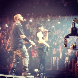 Jay-Z & Kanye West Bring Out Rihanna in London