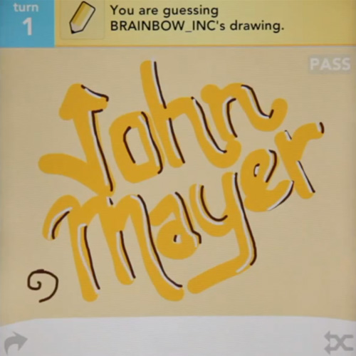 John Mayer - Queen of California (Draw Something Video)