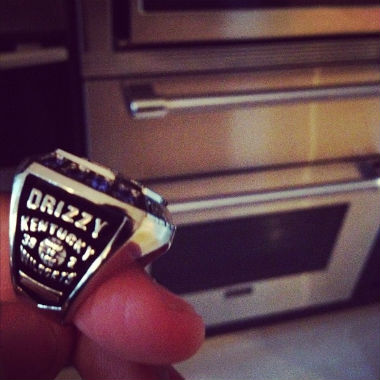 Drake Gets NCAA Championship Ring