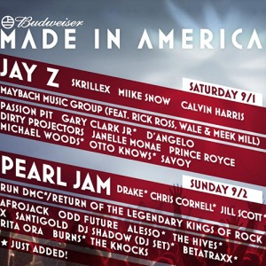 Winner Announcement! Win 2 Day Passes for Jay-Z's MADE IN AMERICA Fest!