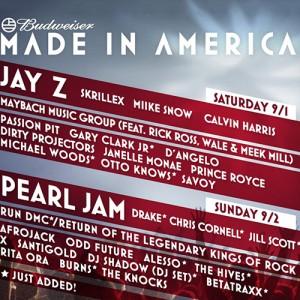 Winner Announcement! Win 2 Day Passes for Jay-Z's MADE IN AMERICA Fest!