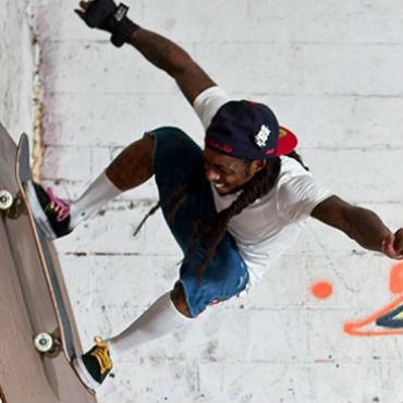 Lil Wayne Opens Skate Park in New Orleans